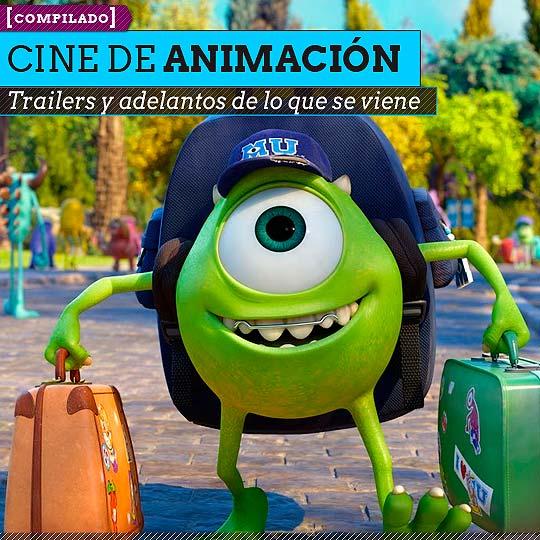 Trailers de lo que se viene en cine de animación.