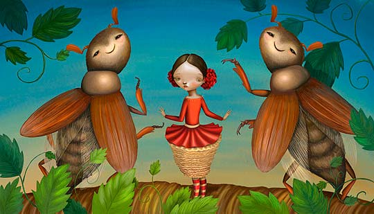 Ilustración infantil de VARYA KOLESNIKOVA