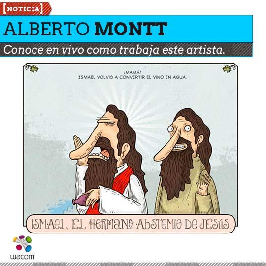 Conoce como trabaja el ilustrador Alberto Montt.