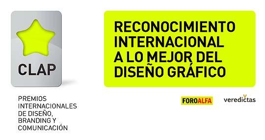 Premios internacionales de diseño CLAP en Iberoamérica.