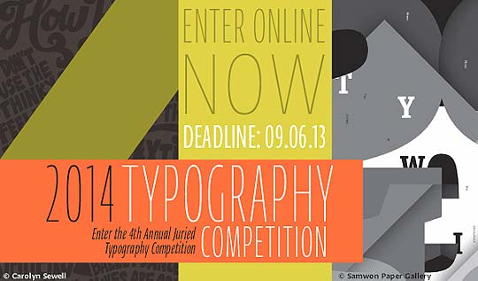 Convocatoria de Tipografía. 2014 Typography Competition.