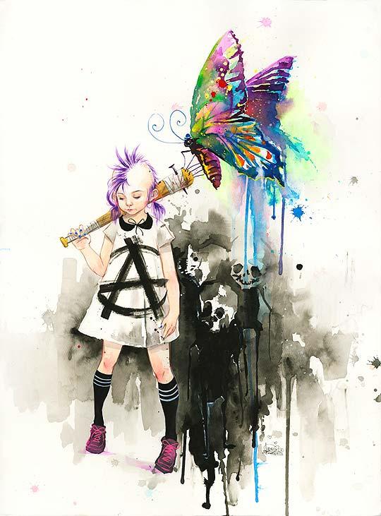 Pintura de LORA ZOMBIE