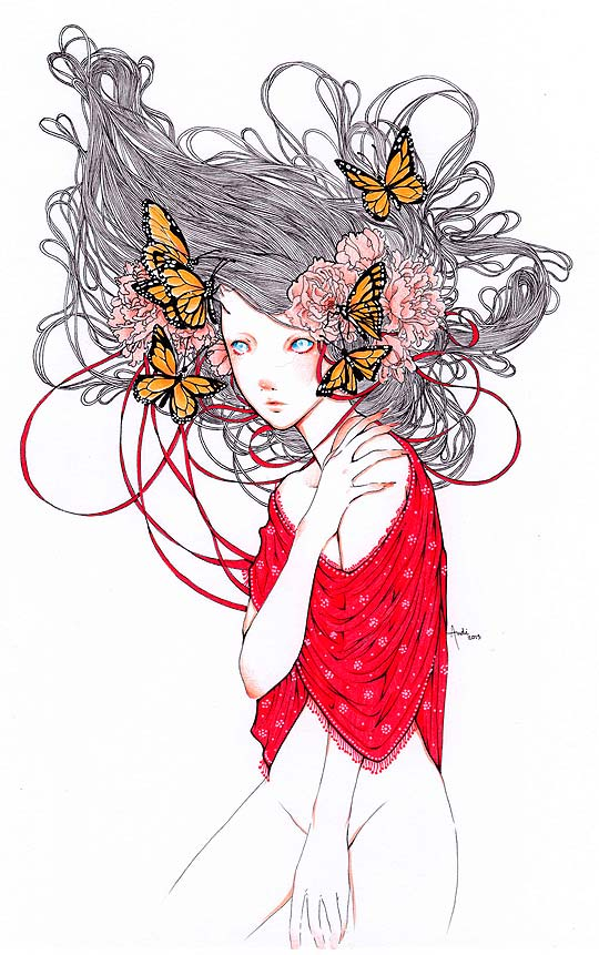 Mariposa en rojo de ANDREA SOTO aka Andi Soto.