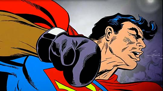 Animación de Superman 75 aniversario.
