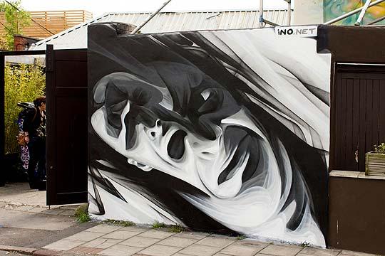 Arte urbano de INO.