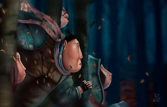 Ilustración de IRINIA & OLGA ERT.