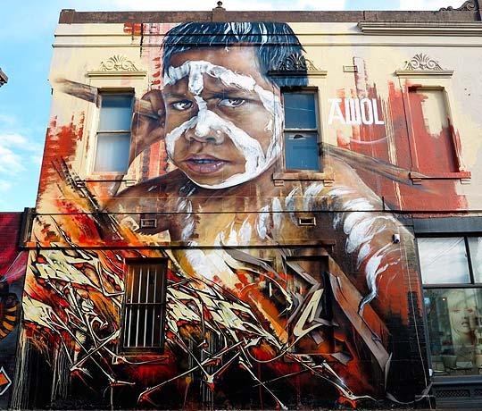 Arte urbano de MATT ADNATE.