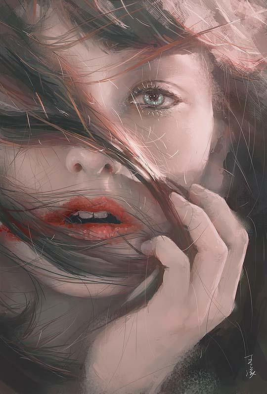 Pintura digital de WANG LING.