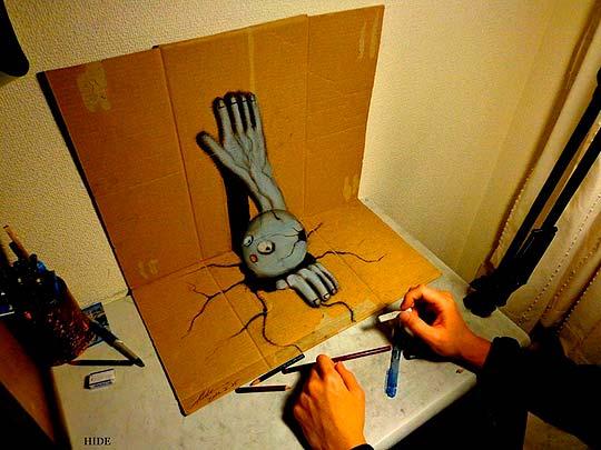 Lápiz, perspectiva y creatividad de NAGAI HIDEYUKI