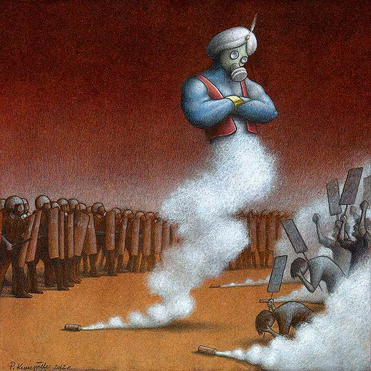 Caricatura de opinión y arte de PAWLA KUCZYNSKIEGO
