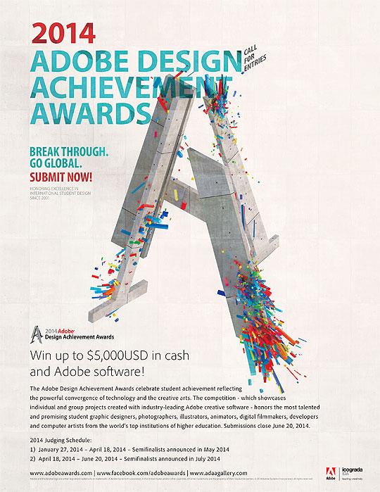 Convocatoria. Adobe Design Achievement Awards 2014.