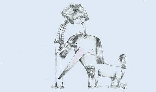 Ilustración. Perro peinado de CARLA PRATO