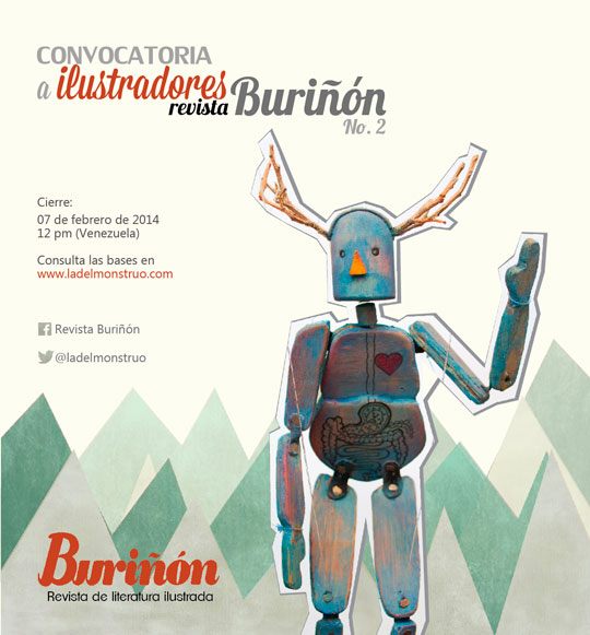 Convocatoria para ilustradores. Revista Buriñón No. 2