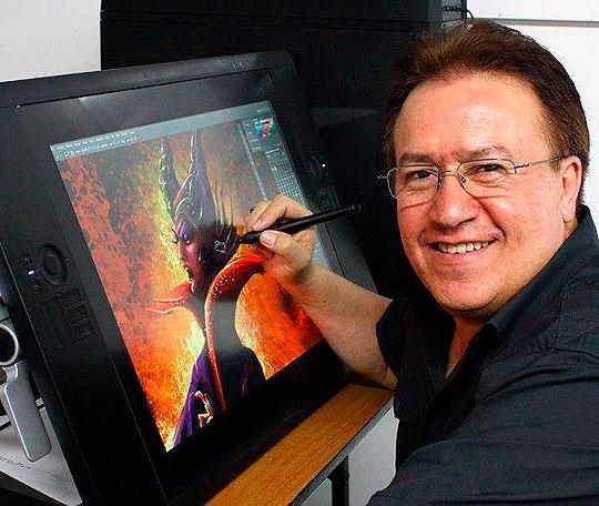 De el boceto a la ilustración final con Gerald Méndez.