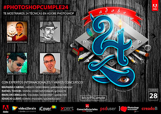 Evento Adobe. #Photoshopcumple24.