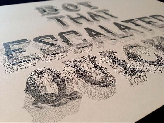 Letras ilustradas de XAVIER CASALTA