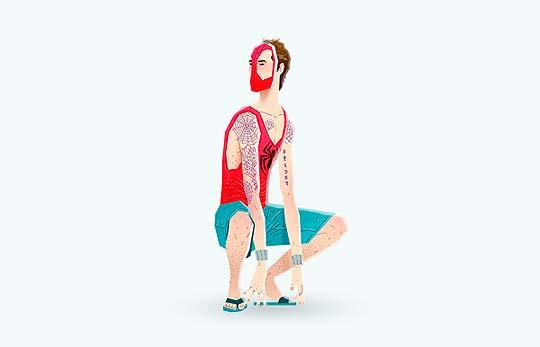 Super Rockers, serie de ilustraciones de ANDRÉS MONCAYO