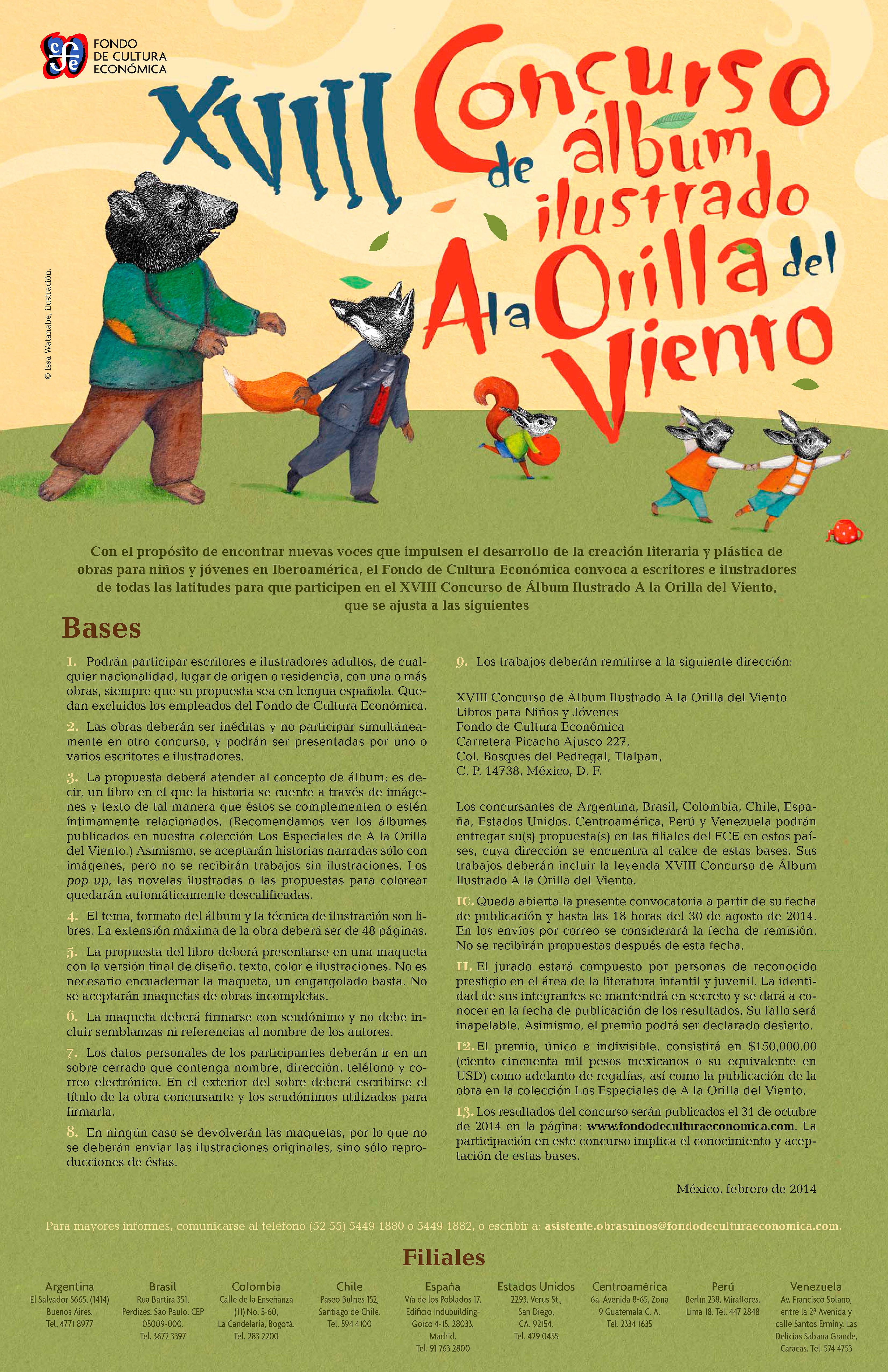 XVII Concurso de Álbum Ilustrado A la Orilla del Viento.