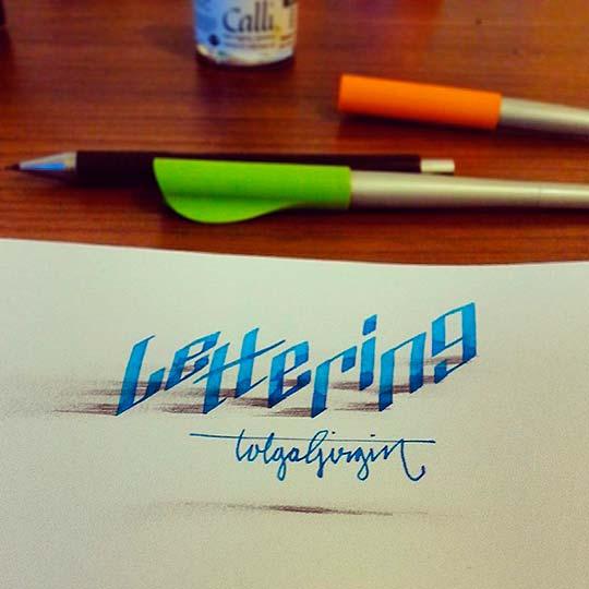 Caligrafía y lettering de TOLGA GIRGIN