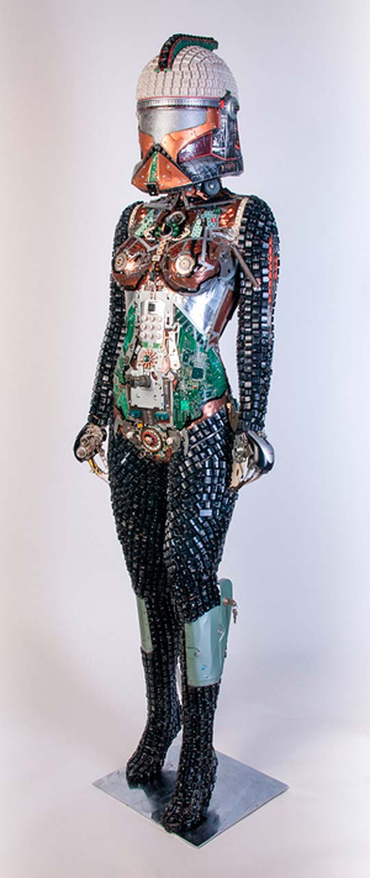 Esculturas de Star Wars desde reciclaje por GABRIEL DISHAW
