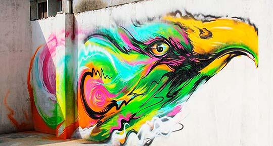 Arte urbano, pintura y manchas de HUA TUNAN