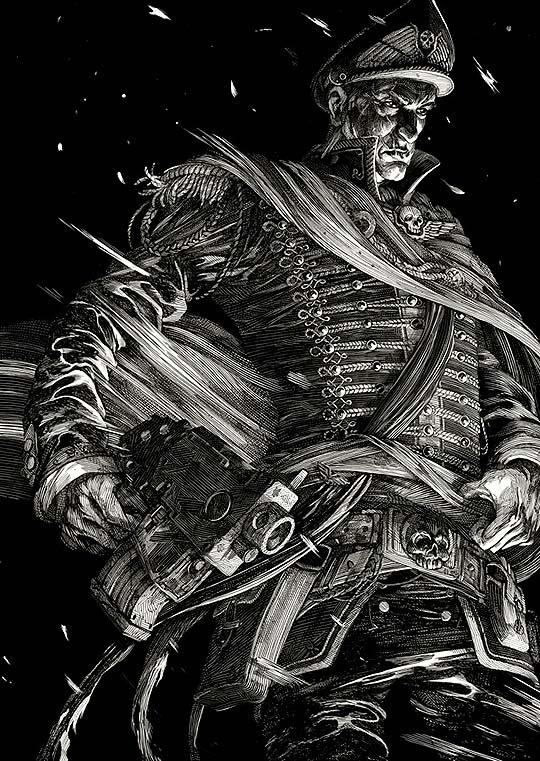 Ilustración. Blanco y negro de NICOLAS DELORT