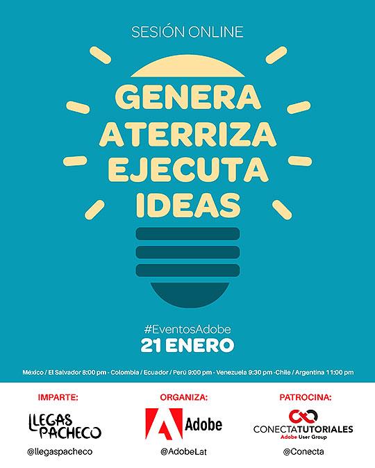 Primer evento Adobe en línea de 2015: Genera, aterriza y ejecuta ideas