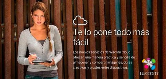 Almacenamiento gratuito en la nube con WACOM CLOUD.
