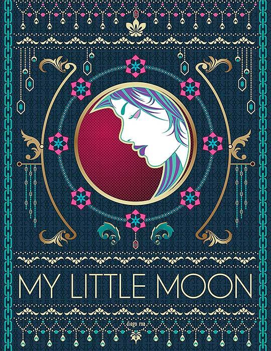 Ilustración. My Little Moon de DIEGO ALEJANDRO ROA