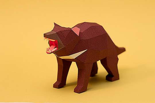 Ilustración poligonal en papel con ESTUDIO GUARDABOSQUES