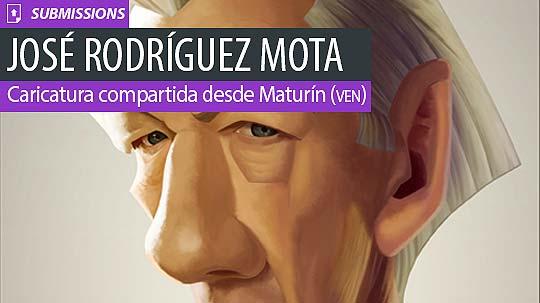 Caricatura. Ian McKellen de JOSÉ RODRÍGUEZ MOTA