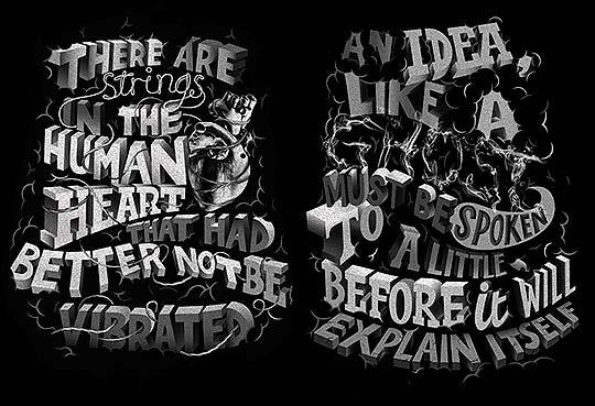 Ilustración, diseño y lettering de ILOVEDUST studio