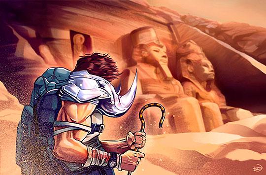 Ilustración. Abu Simbel Profanation de IVÁN SANTIAGO