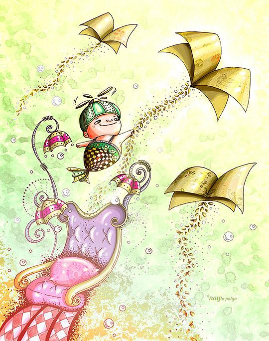 Ilustración. La lectura de NAIDA JAZMIN OCHOA