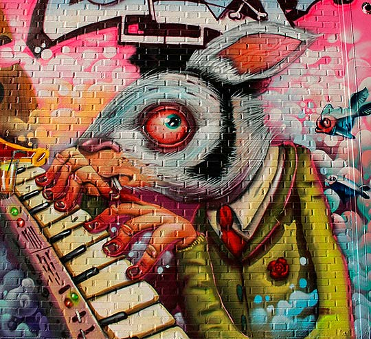 Arte urbano, dibujo y pintura mural con NAPOL