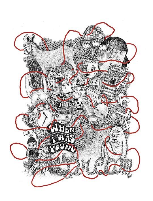 Ilustración. La salida… de MICKAEL BRANA aka Patiño