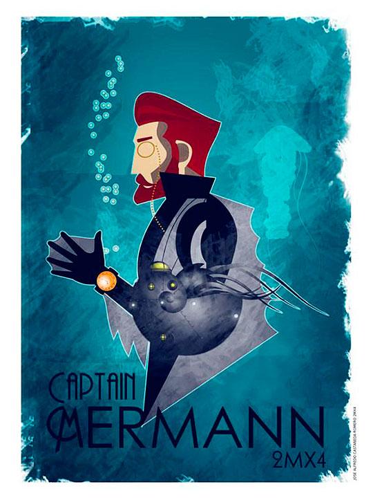Ilustración. Mermann de JOSÉ ALFREDO CASTAÑEDA