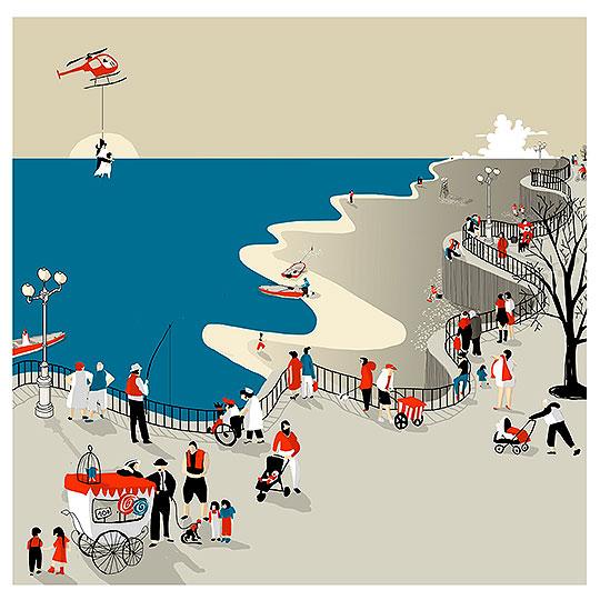 Ilustración. La Playa de SOL UNDURRAGA