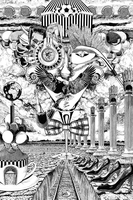 Ilustración. Tres veces tres de ALBERTO MATSUMURA