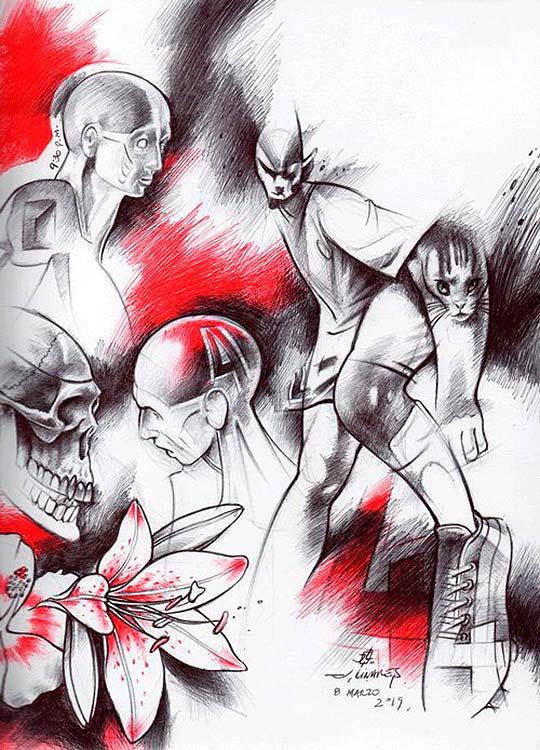 Personajes, pintura e ilustración de JAIRO LINARES