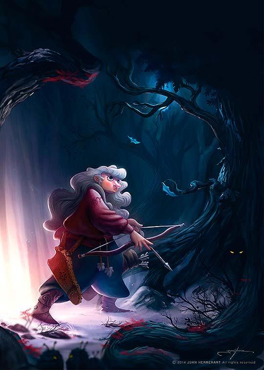 Ilustración. Guardian of the forest de Herrerart