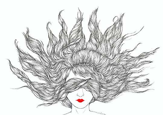 Ilustración. Hair de MIRIAM CABANO