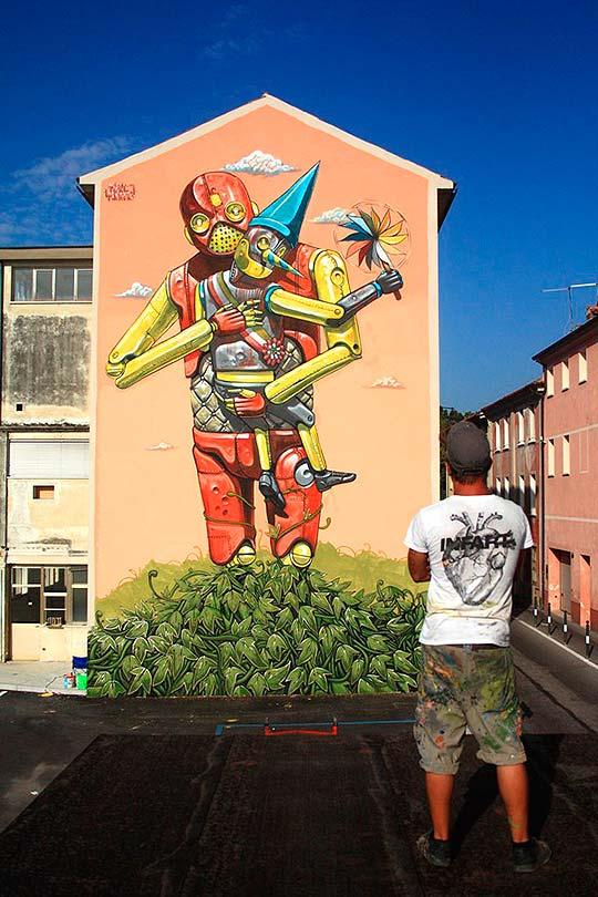 Arte urbano, pintura y robots de PIXEL PANCHO