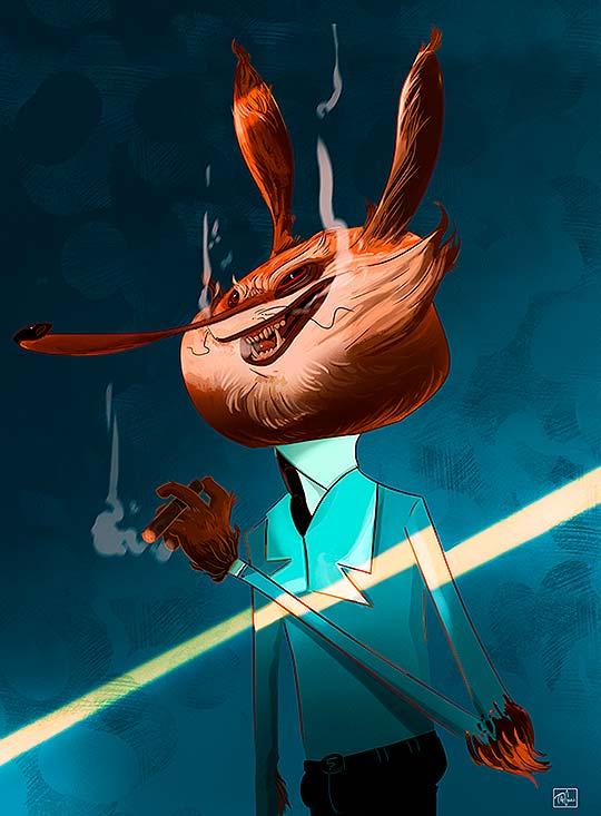Ilustración y personajes en digital de THE CHULO