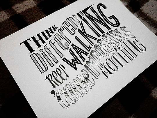 Ilustración y lettering de Adriana Ponce