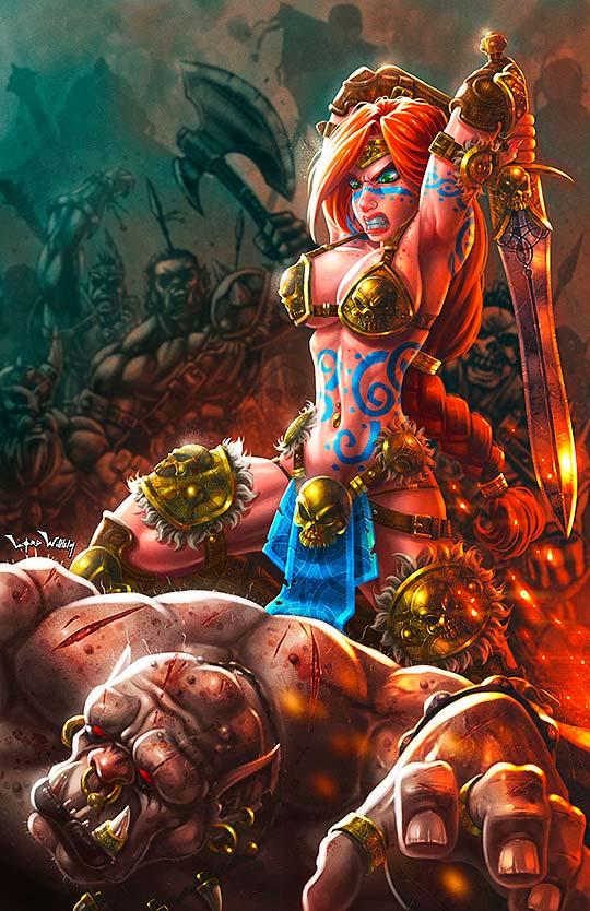 Ilustración. Princesa Barbara vs Ogro de GUILLERMO CARTAY