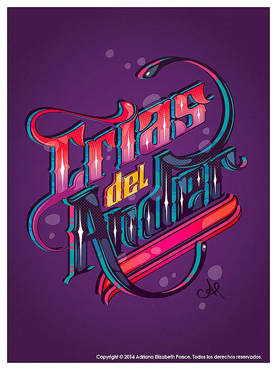 Ilustración y lettering. Crias del Ander de Adriana Ponce