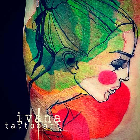 Pintura pop en la piel… Tatuajes de Ivana Belakova