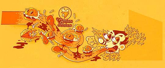Ilustración infantil, dibujo y letras de JOHNNY KOTZE